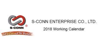 2018 S-Conn Working Calendar