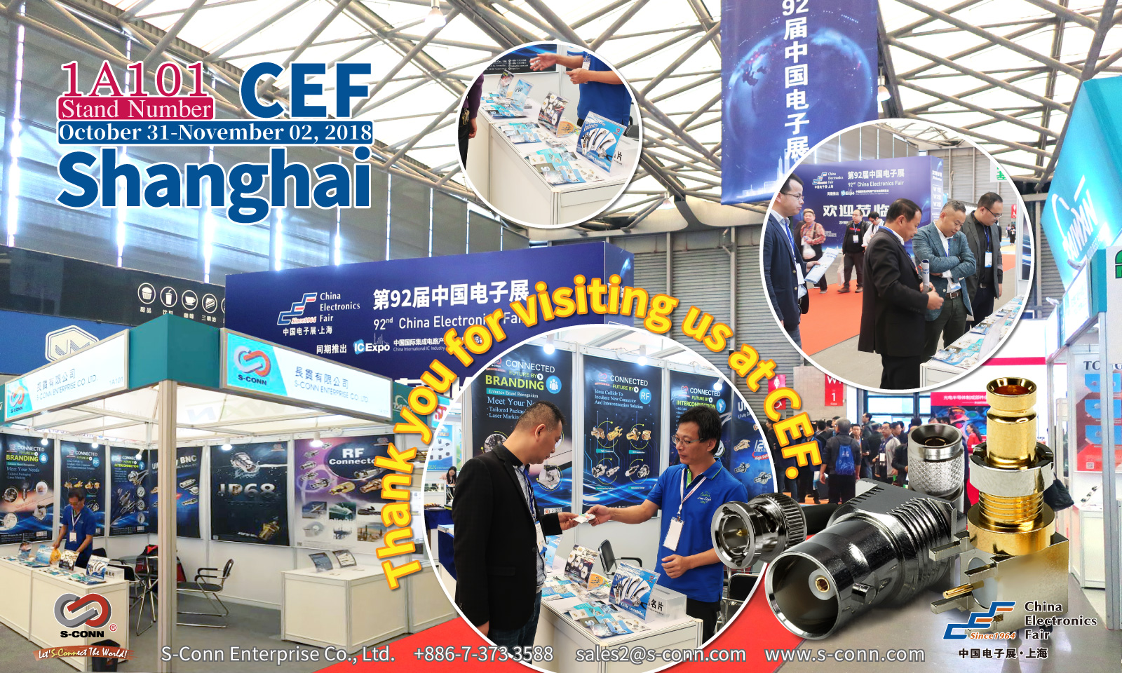 2018 China Electronics Fair : Thanks for your visiting.