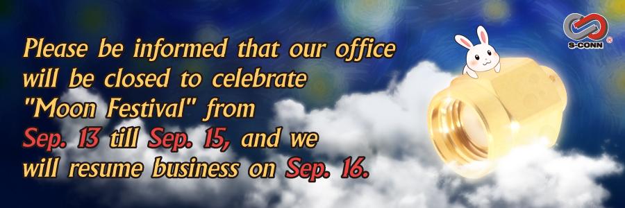 Holiday Notice – Moon  Festival